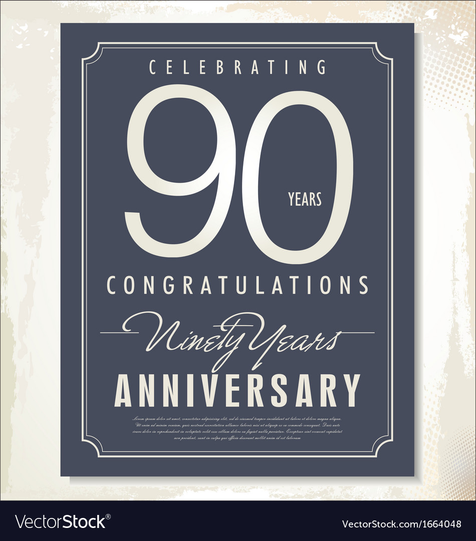 90 years anniversary background vector | Price: 1 Credit (USD $1)