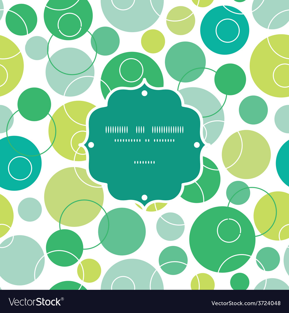 Abstract green circles frame seamless vector | Price: 1 Credit (USD $1)