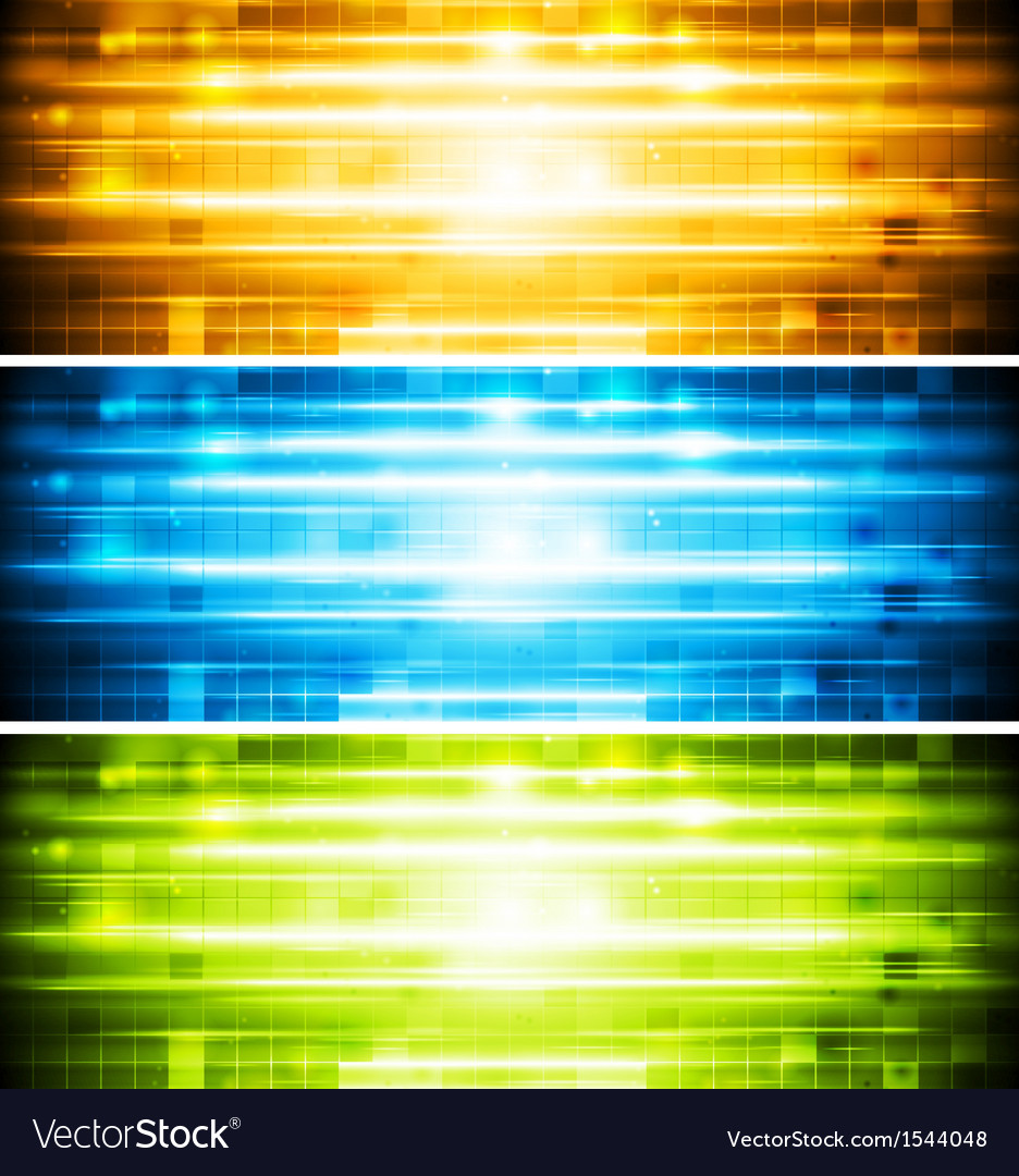 Abstract shiny banners vector | Price: 1 Credit (USD $1)