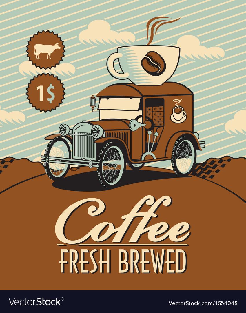 Fresh coffee car vector | Price: 1 Credit (USD $1)
