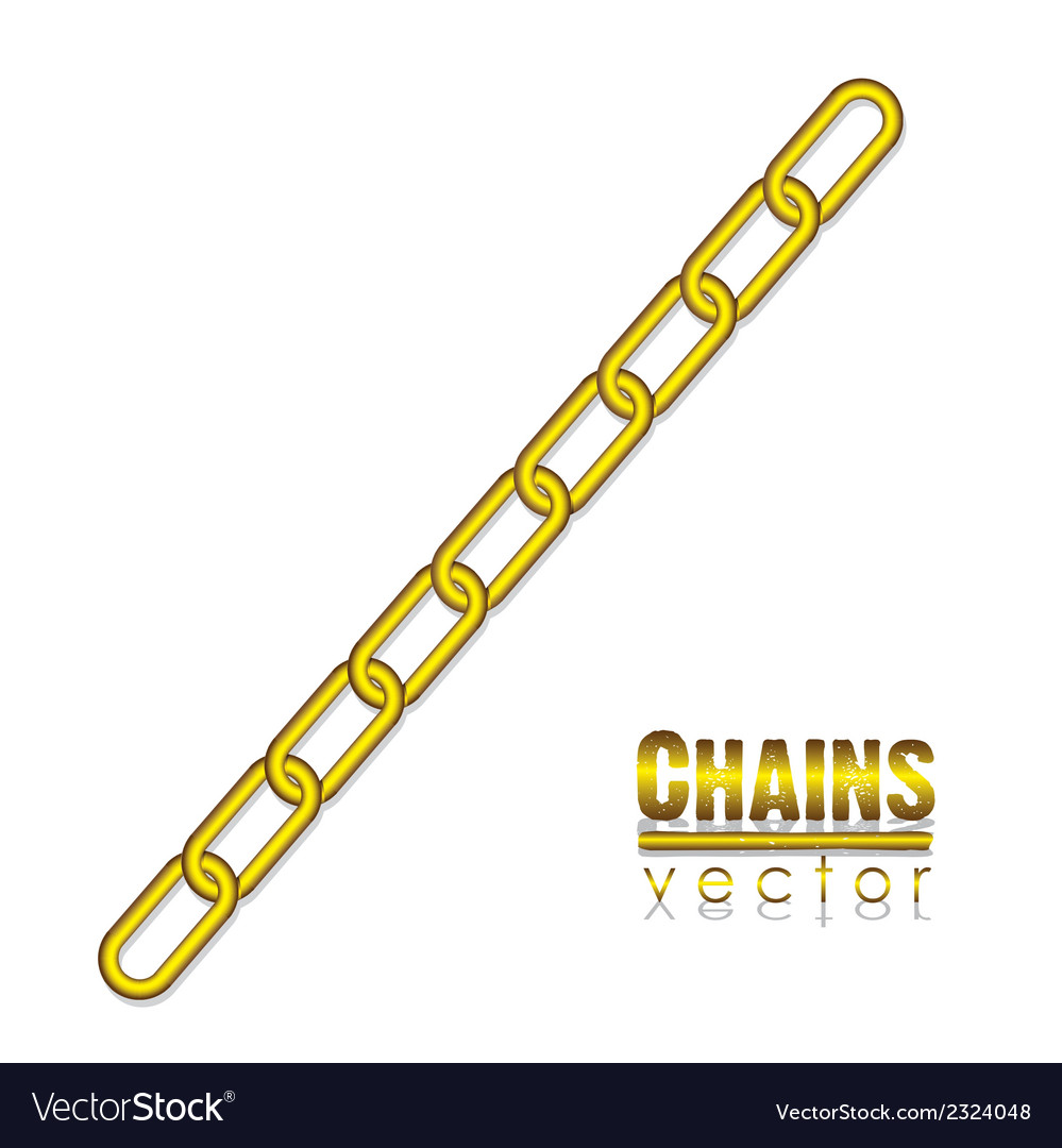 Gold link chain vector | Price: 1 Credit (USD $1)