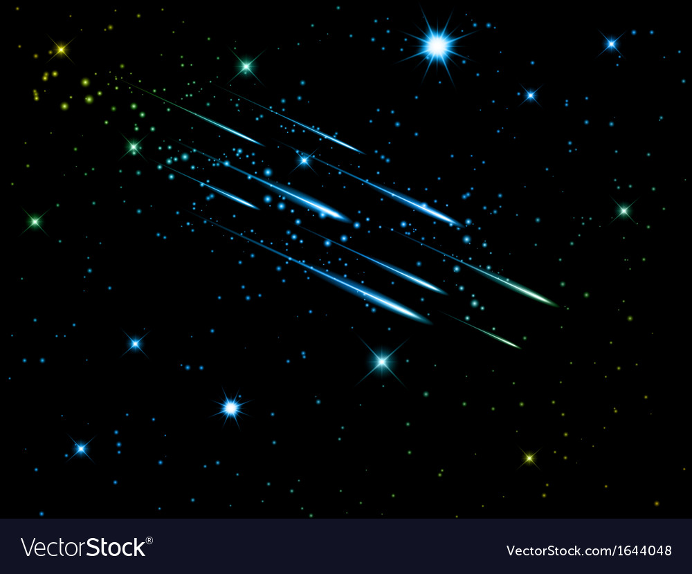 Night sky with shooting stars 1806 vector | Price: 1 Credit (USD $1)