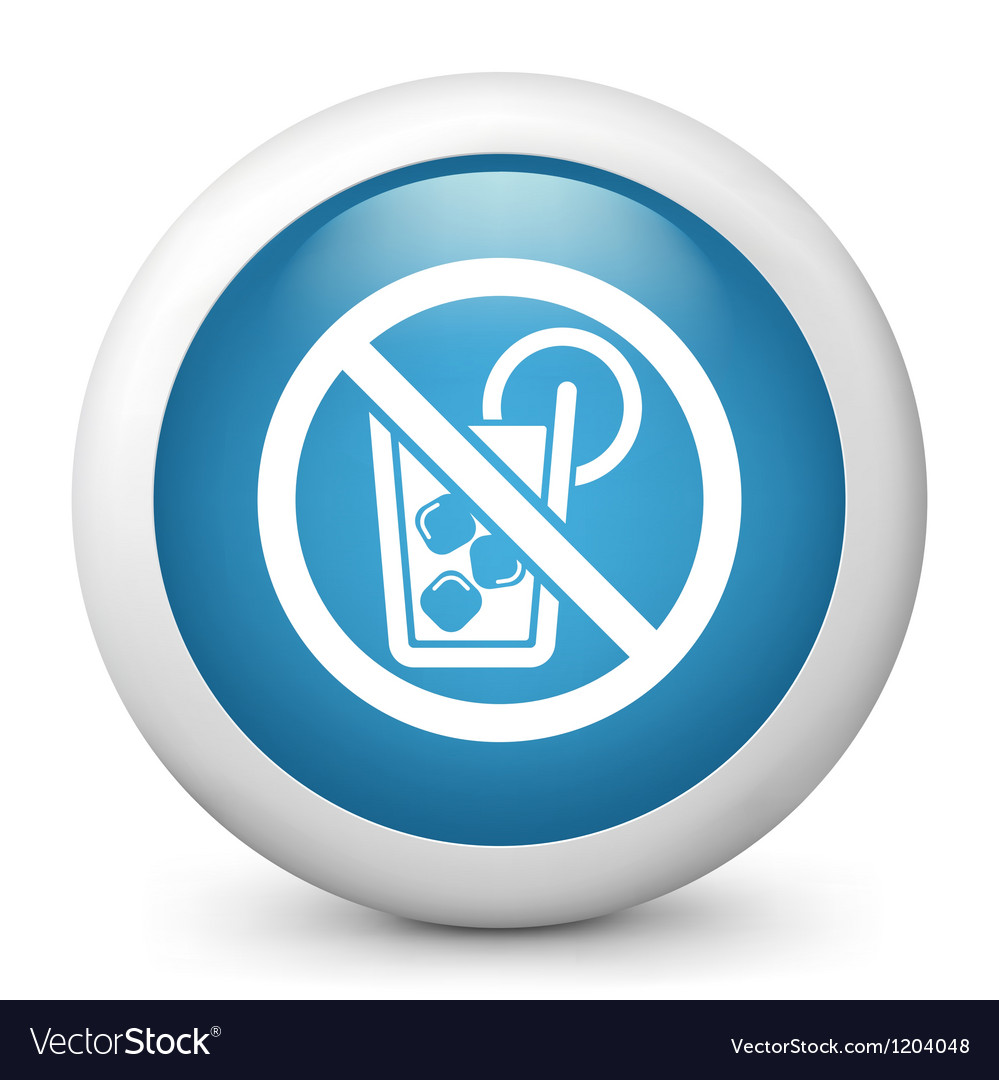 No alcohol glossy icon vector   Price: 1 Credit (USD $1)