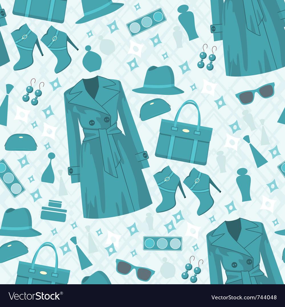 Seamless fashion pattern vector | Price: 1 Credit (USD $1)