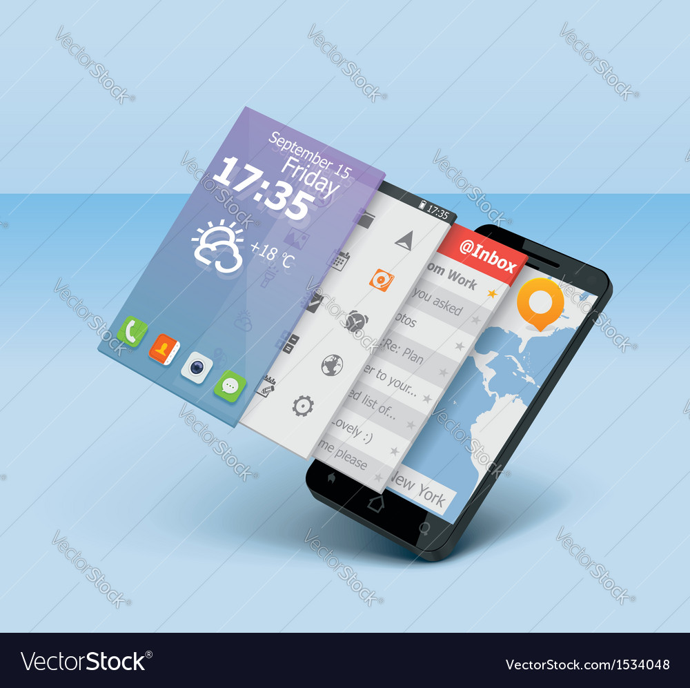 Smartphone icon vector | Price: 3 Credit (USD $3)