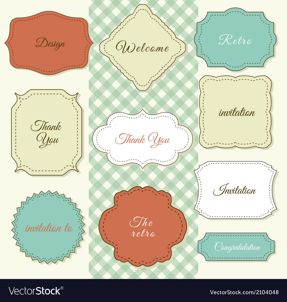 Vintage frames on shabby chic background vector | Price: 1 Credit (USD $1)