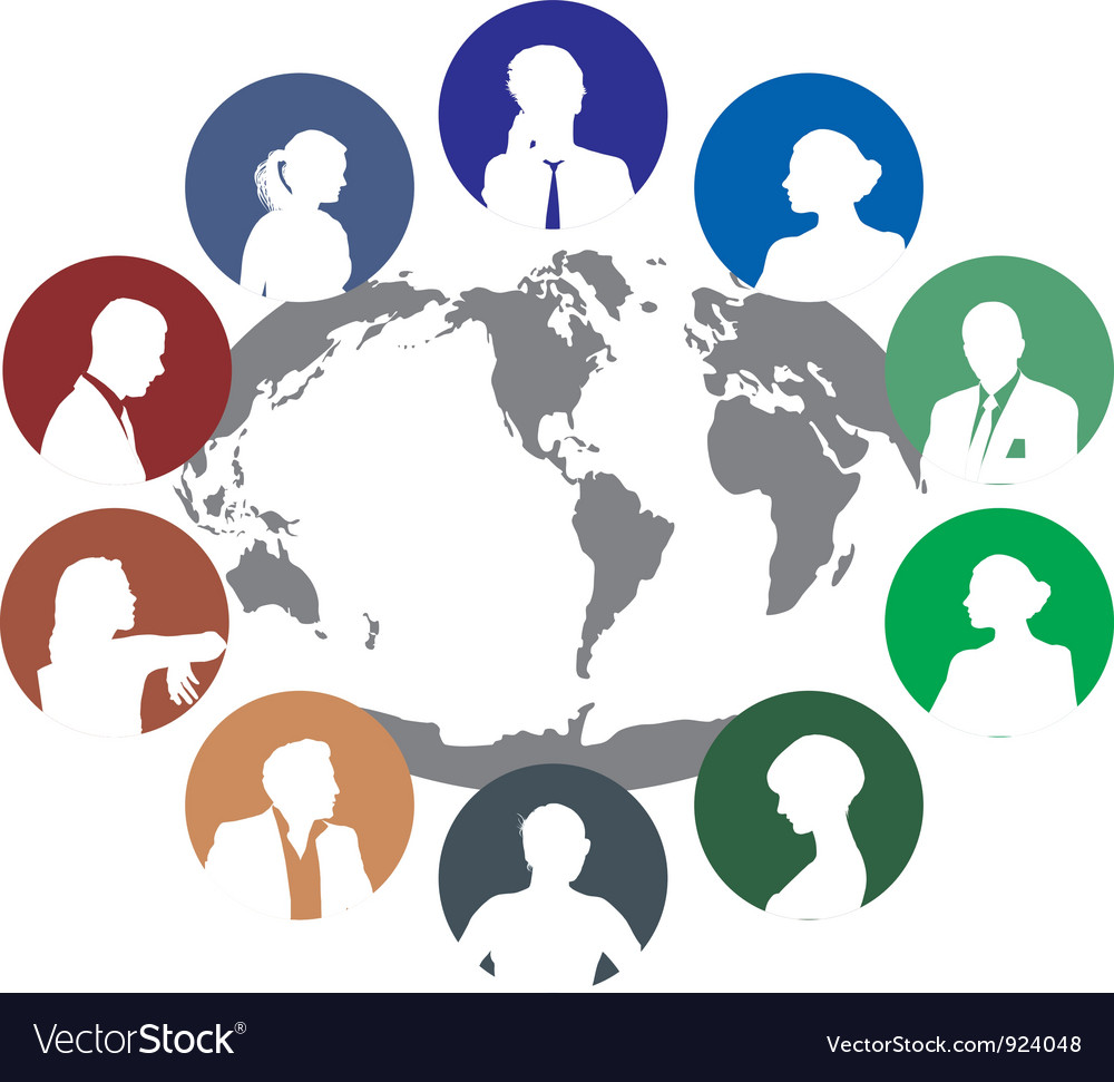 World network of people and the internet vector | Price: 1 Credit (USD $1)