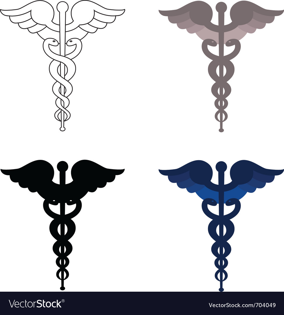 Caduceus symbols vector | Price: 1 Credit (USD $1)