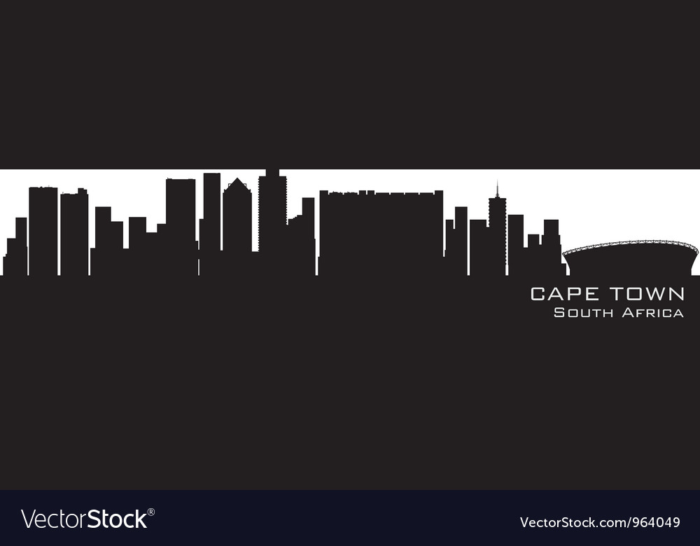 Cape town south africa skyline vector | Price: 1 Credit (USD $1)