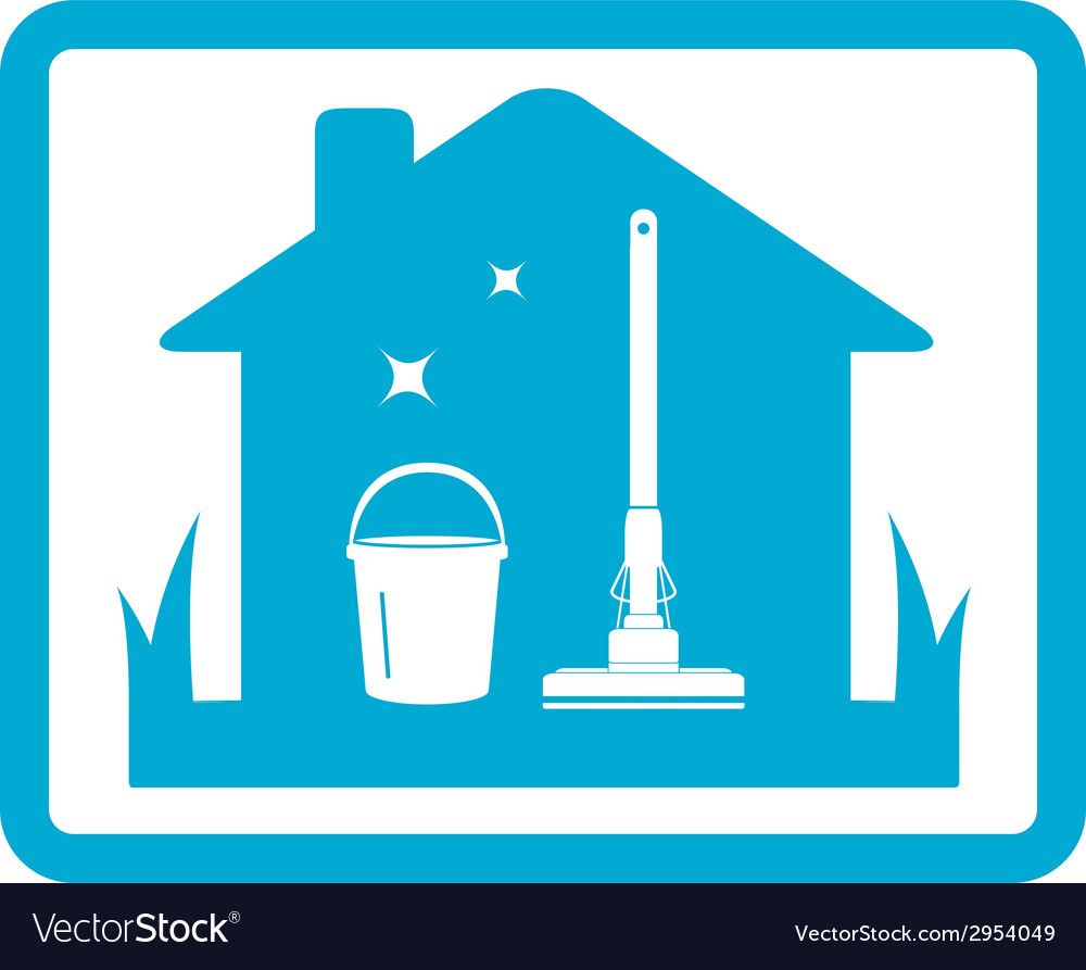 Cleaning home icon vector | Price: 1 Credit (USD $1)