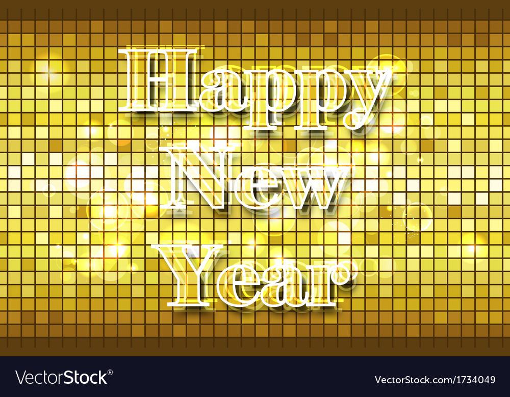 Disco happy new year vector | Price: 1 Credit (USD $1)