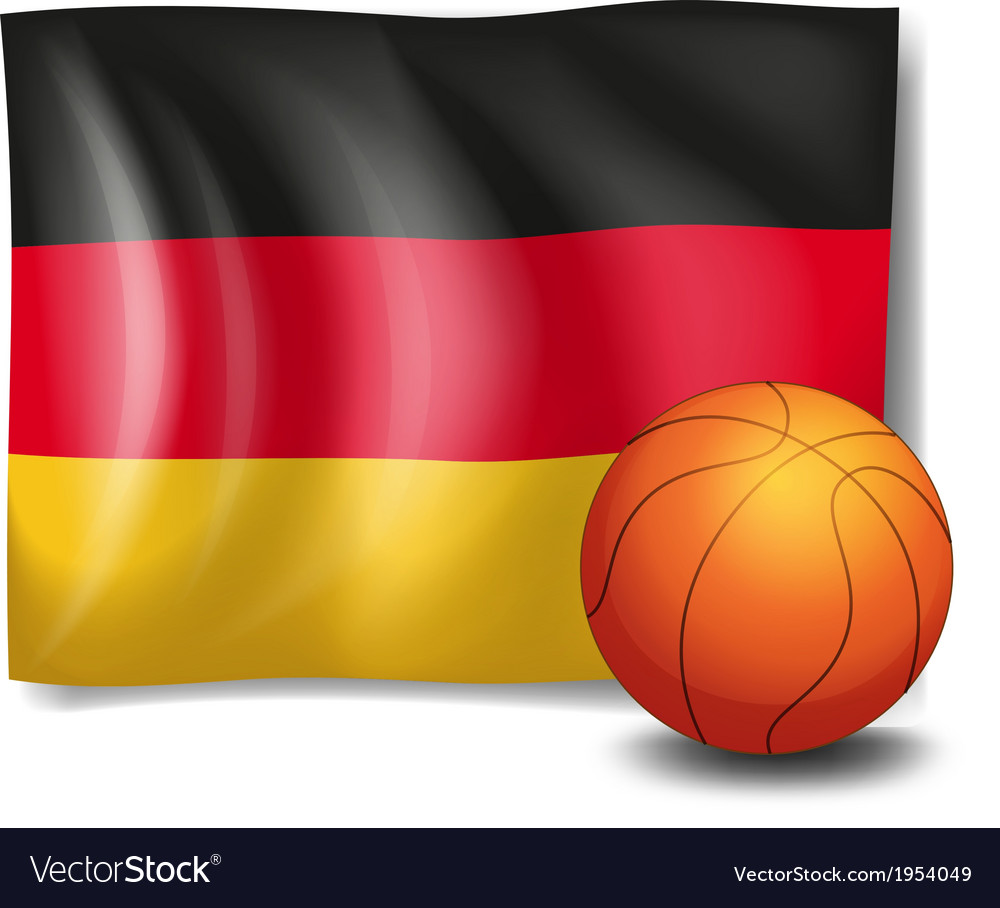 The flag of germany with a ball vector   Price: 1 Credit (USD $1)