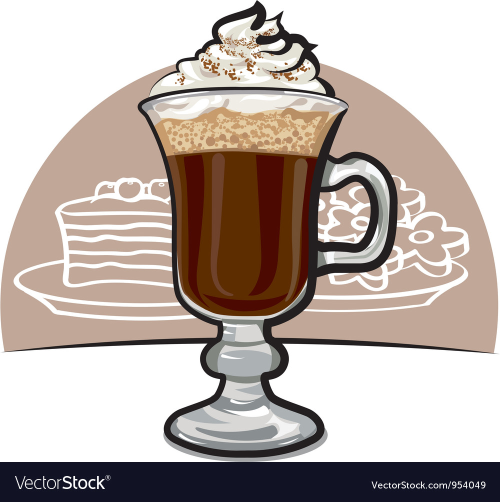 Irish coffee vector | Price: 3 Credit (USD $3)