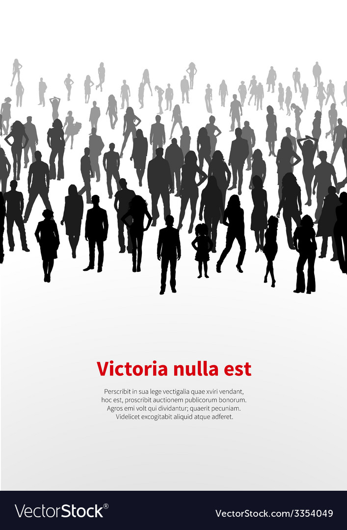 Large crowd of people background vector | Price: 1 Credit (USD $1)