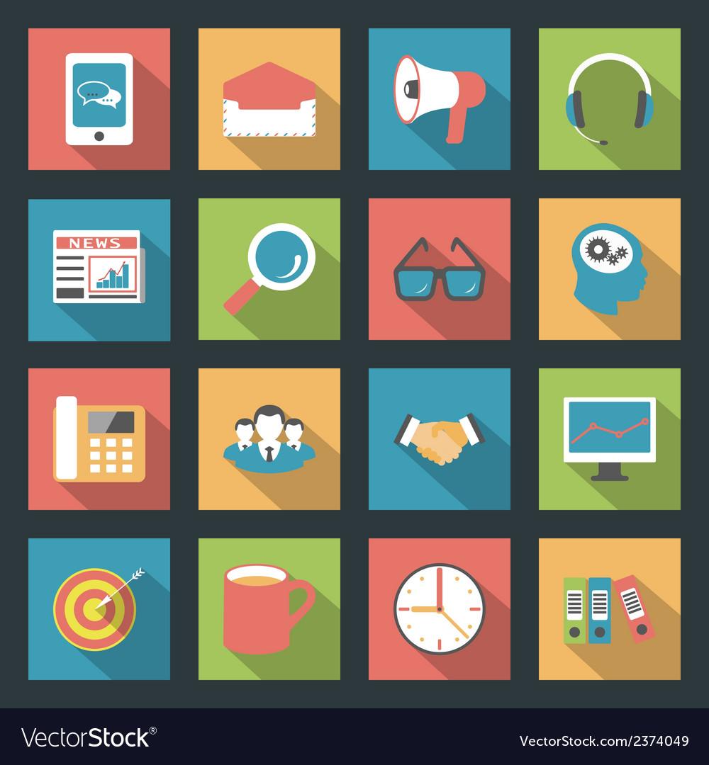 Marketing flat icons set vector   Price: 1 Credit (USD $1)