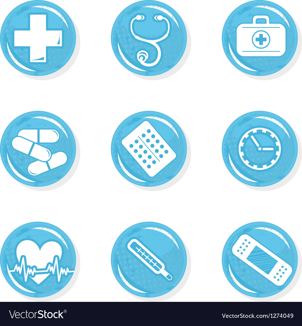 Medical pills icon set vector | Price: 1 Credit (USD $1)