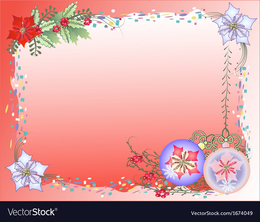 Red christmas background with confetti vector | Price: 1 Credit (USD $1)
