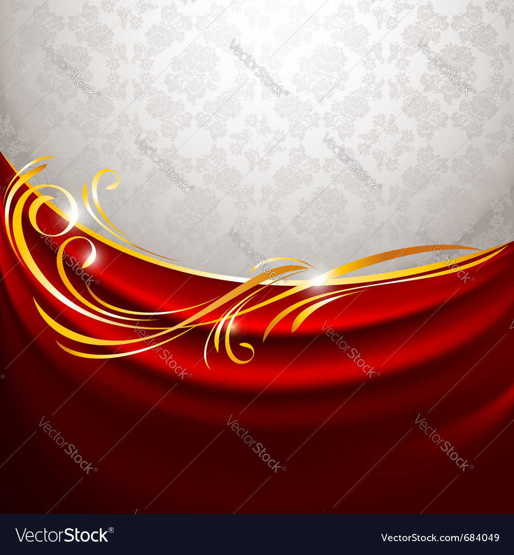 Red fabric curtain vector | Price: 1 Credit (USD $1)