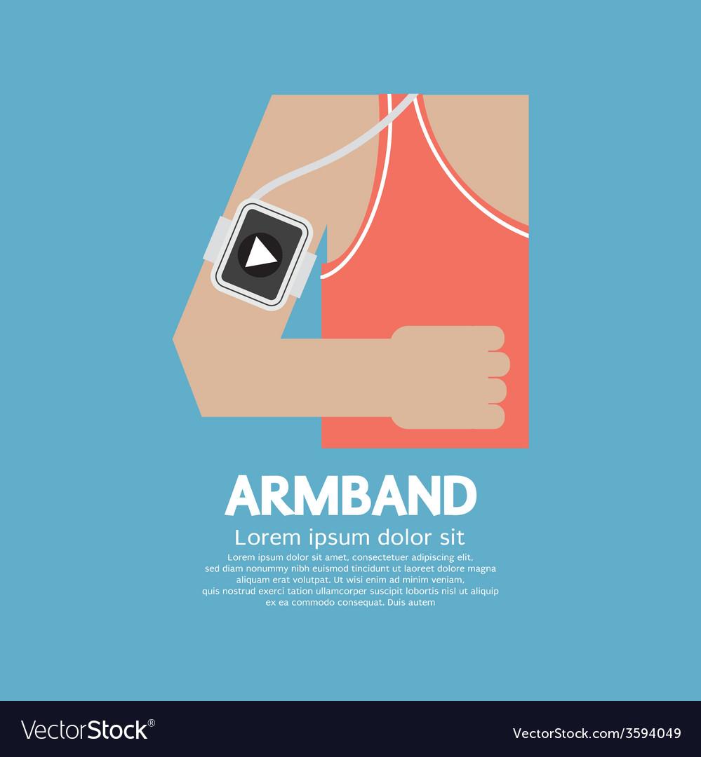 Runner man wearing smartphone armband vector | Price: 1 Credit (USD $1)