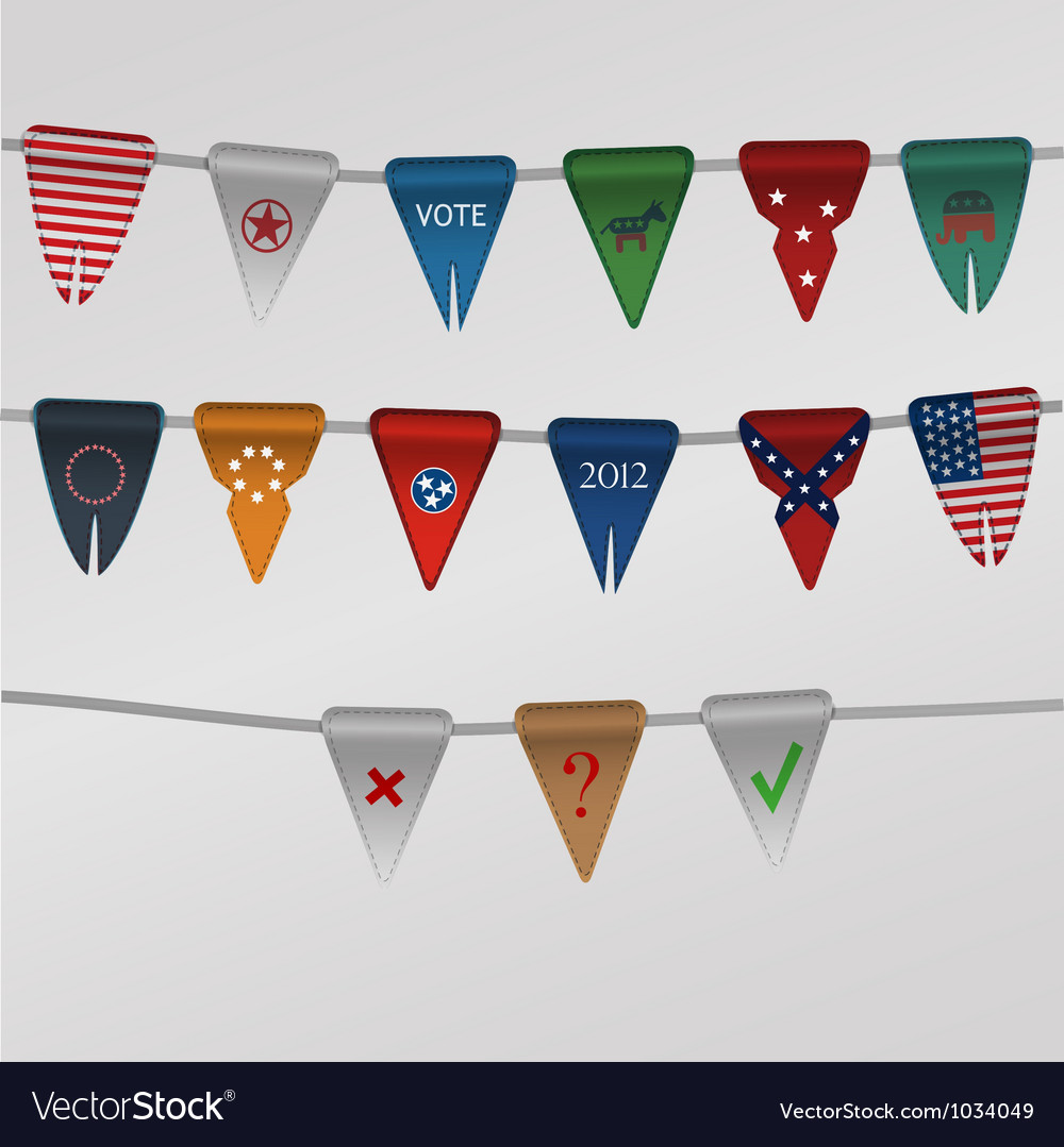 Set of flags dedicated to america vector | Price: 1 Credit (USD $1)