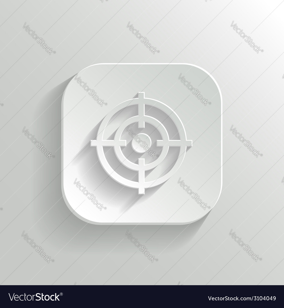 Target icon - white app button vector | Price: 1 Credit (USD $1)