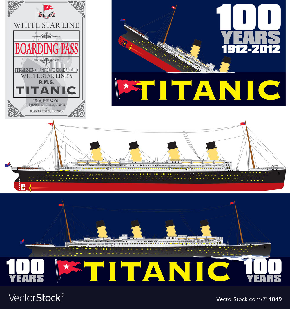 Titanic 100 years anniversary vector | Price: 1 Credit (USD $1)