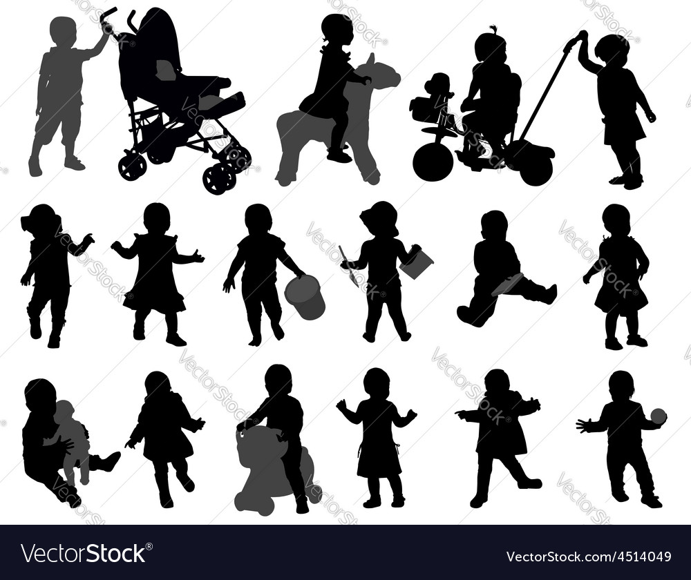 Toddlers vector