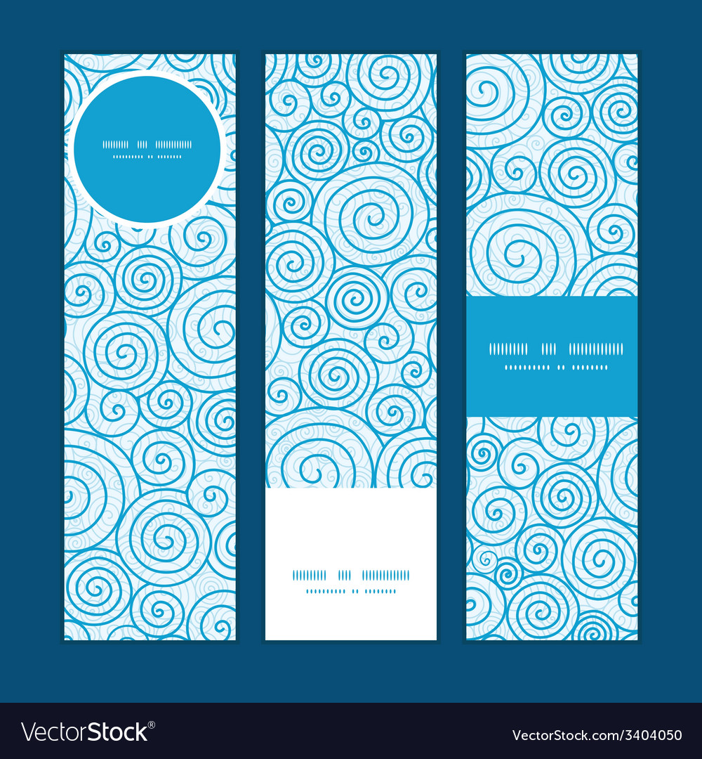 Abstract swirls vertical banners set pattern vector | Price: 1 Credit (USD $1)