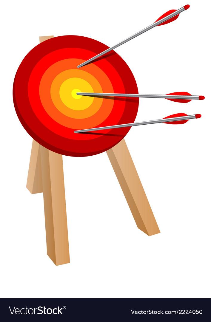 Arrow target vector | Price: 1 Credit (USD $1)