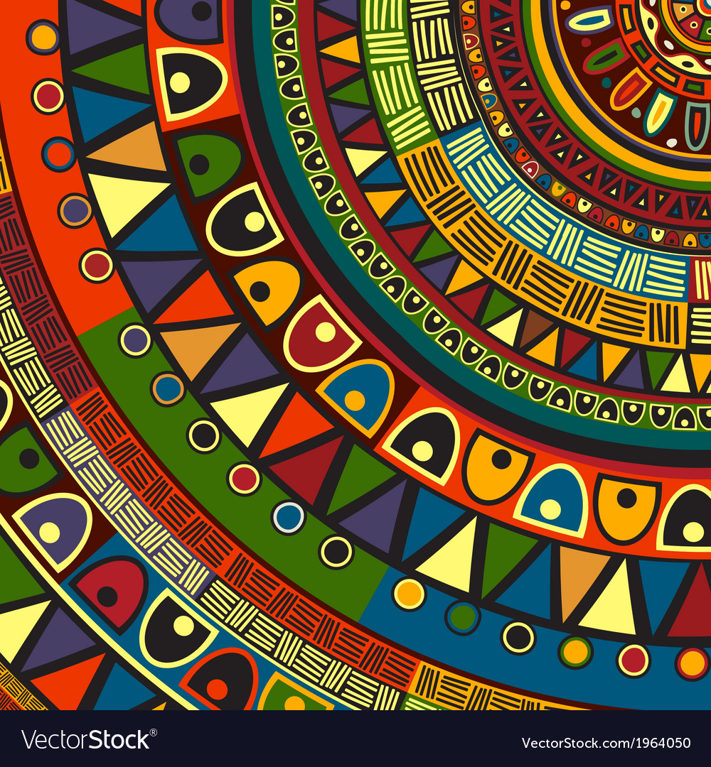Colored tribal design vector | Price: 1 Credit (USD $1)
