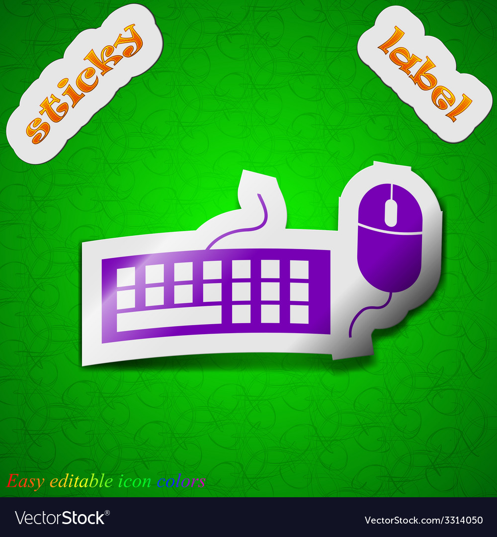 Computer keyboard and mouse icon sign symbol chic vector   Price: 1 Credit (USD $1)
