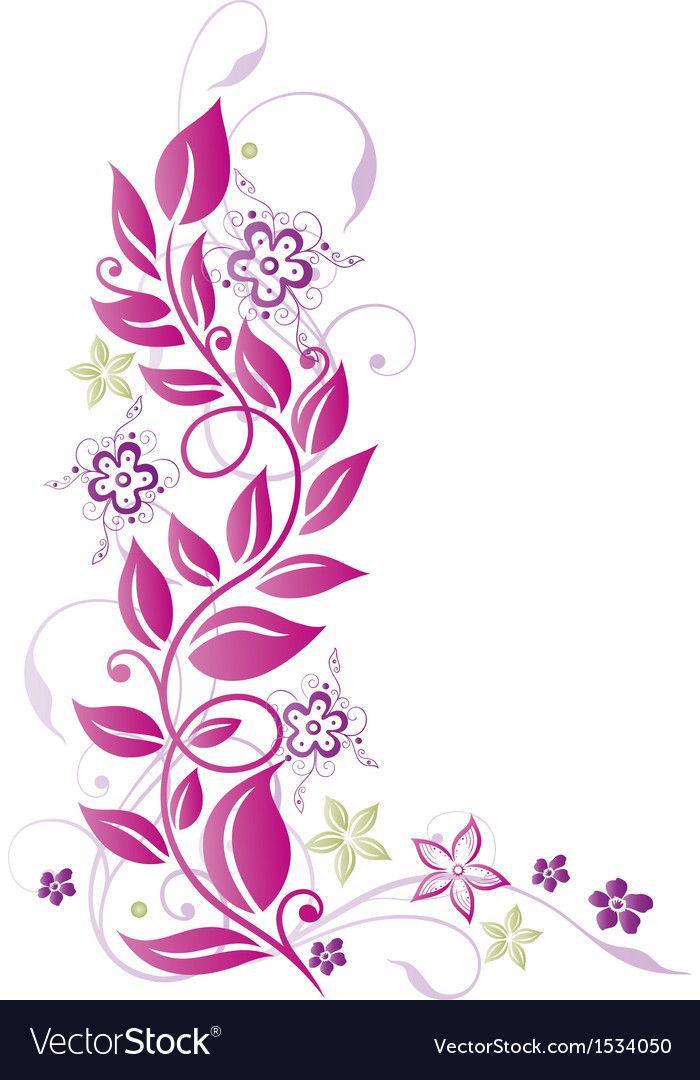 Floral elements ornament vector | Price: 1 Credit (USD $1)