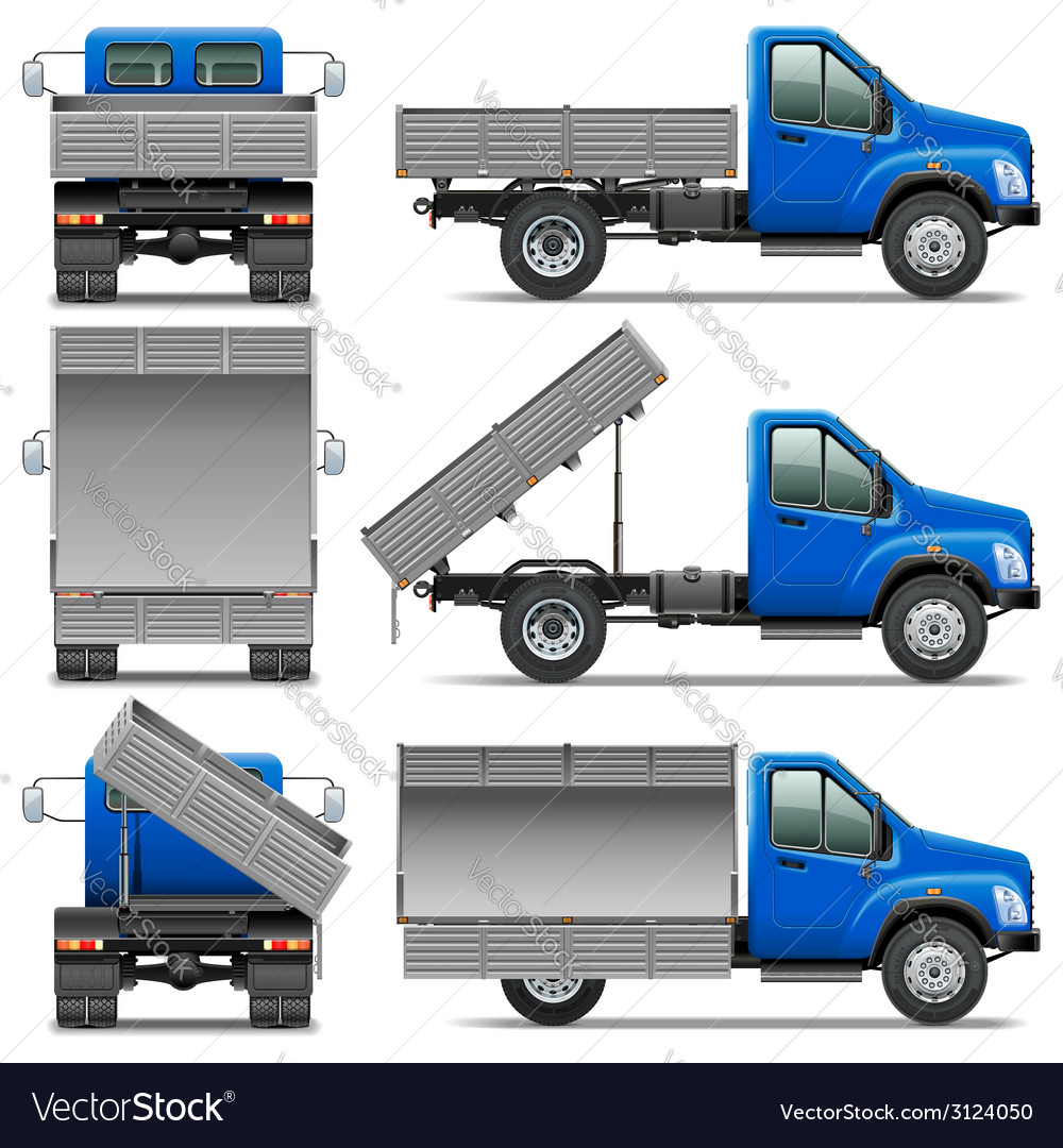 Lorry icons set 4 vector | Price: 3 Credit (USD $3)