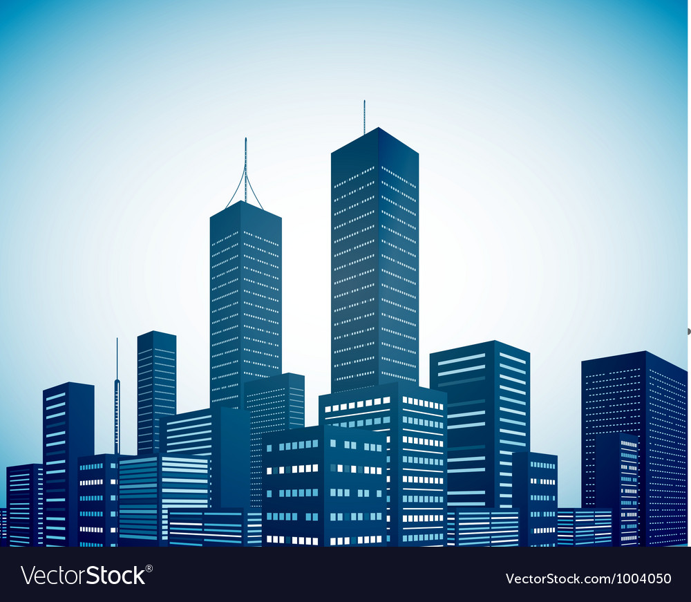 Modern city landscape background vector | Price: 1 Credit (USD $1)