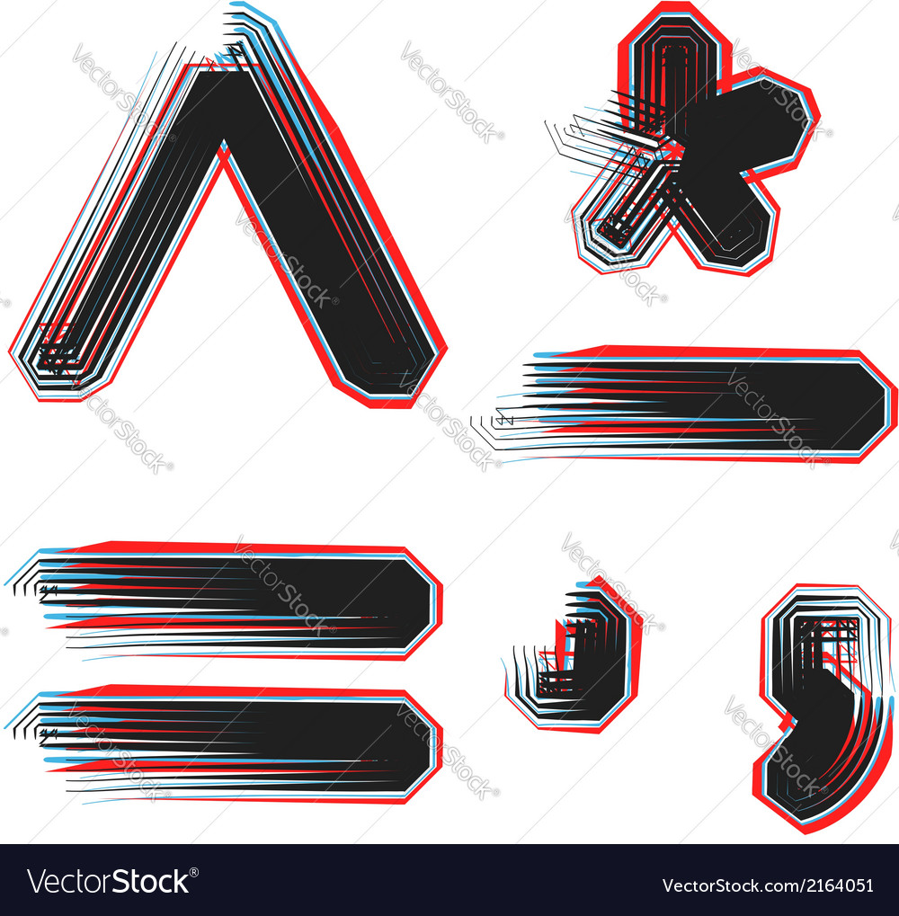 Abstract font symbol vector | Price: 1 Credit (USD $1)