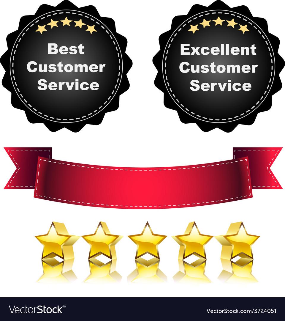 Excellent service vector | Price: 1 Credit (USD $1)