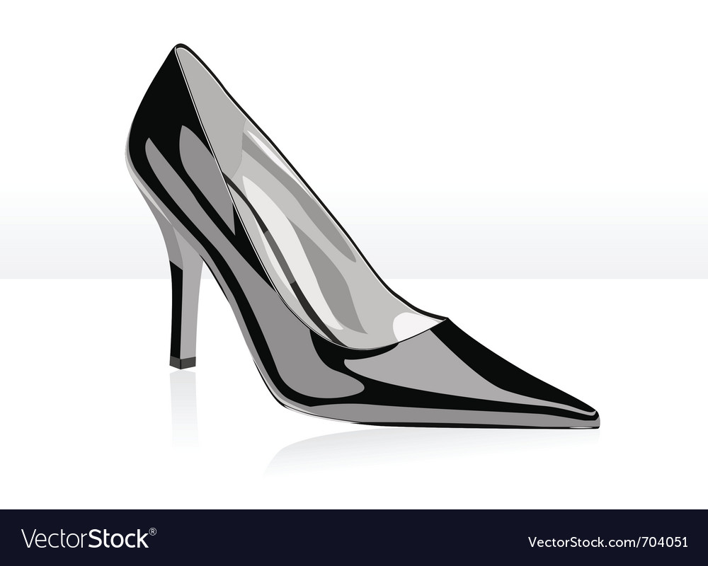 High heel black woman shoe vector | Price: 1 Credit (USD $1)