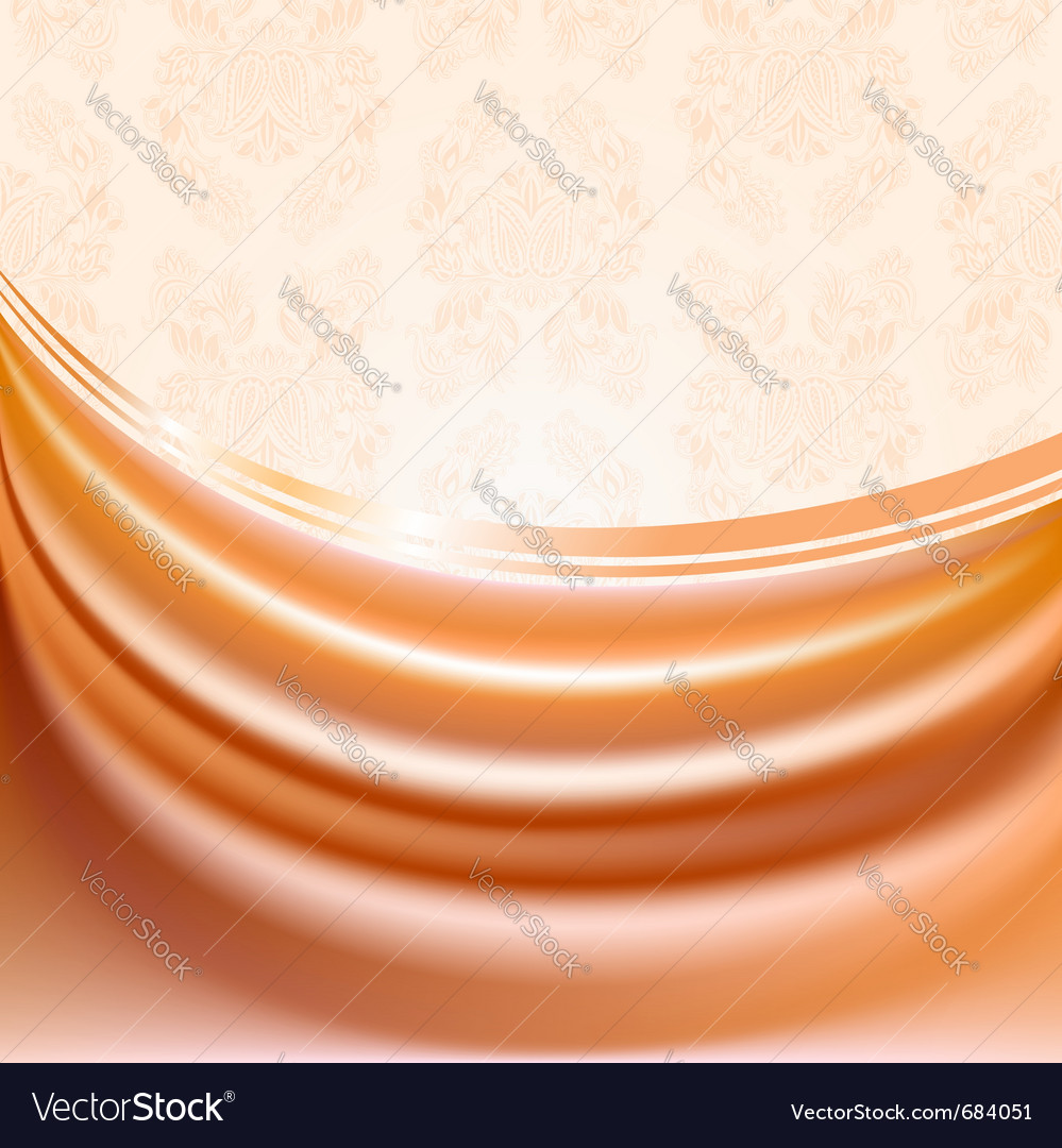Peach silk curtain vector | Price: 1 Credit (USD $1)