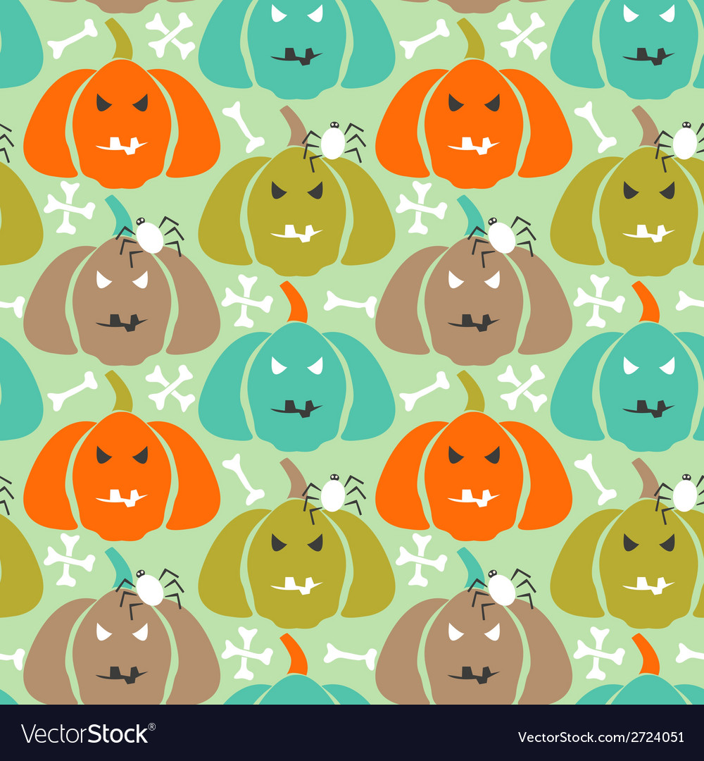 Retro halloween background vector | Price: 1 Credit (USD $1)
