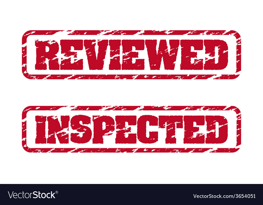 Reviewed and inspected rubber stamps vector | Price: 1 Credit (USD $1)