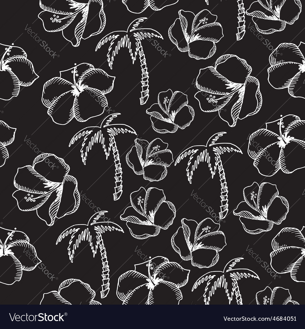 Seamless pattern background tropical summer vector | Price: 1 Credit (USD $1)