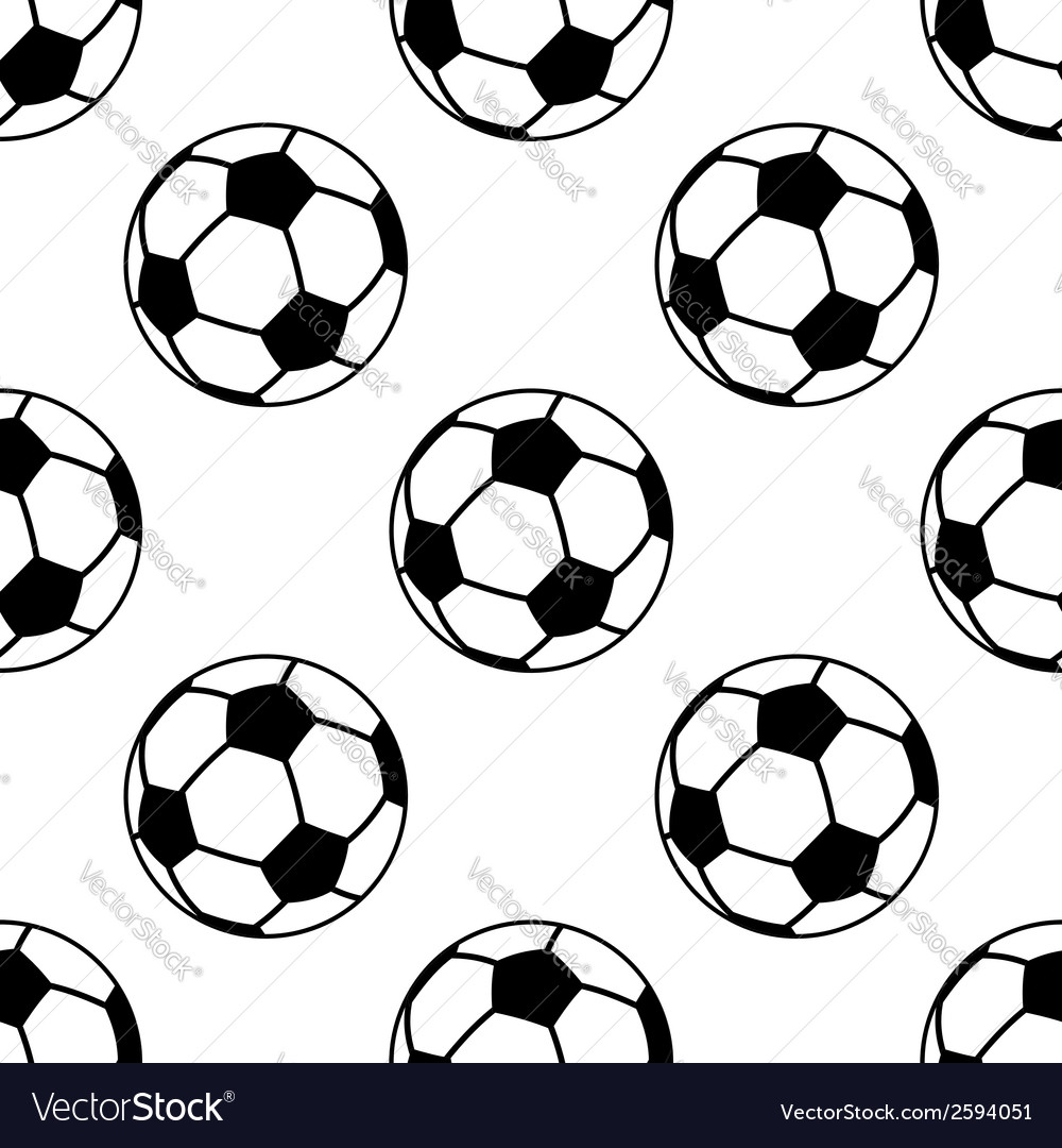 Seamless pattern with football or soccer balls vector | Price: 1 Credit (USD $1)