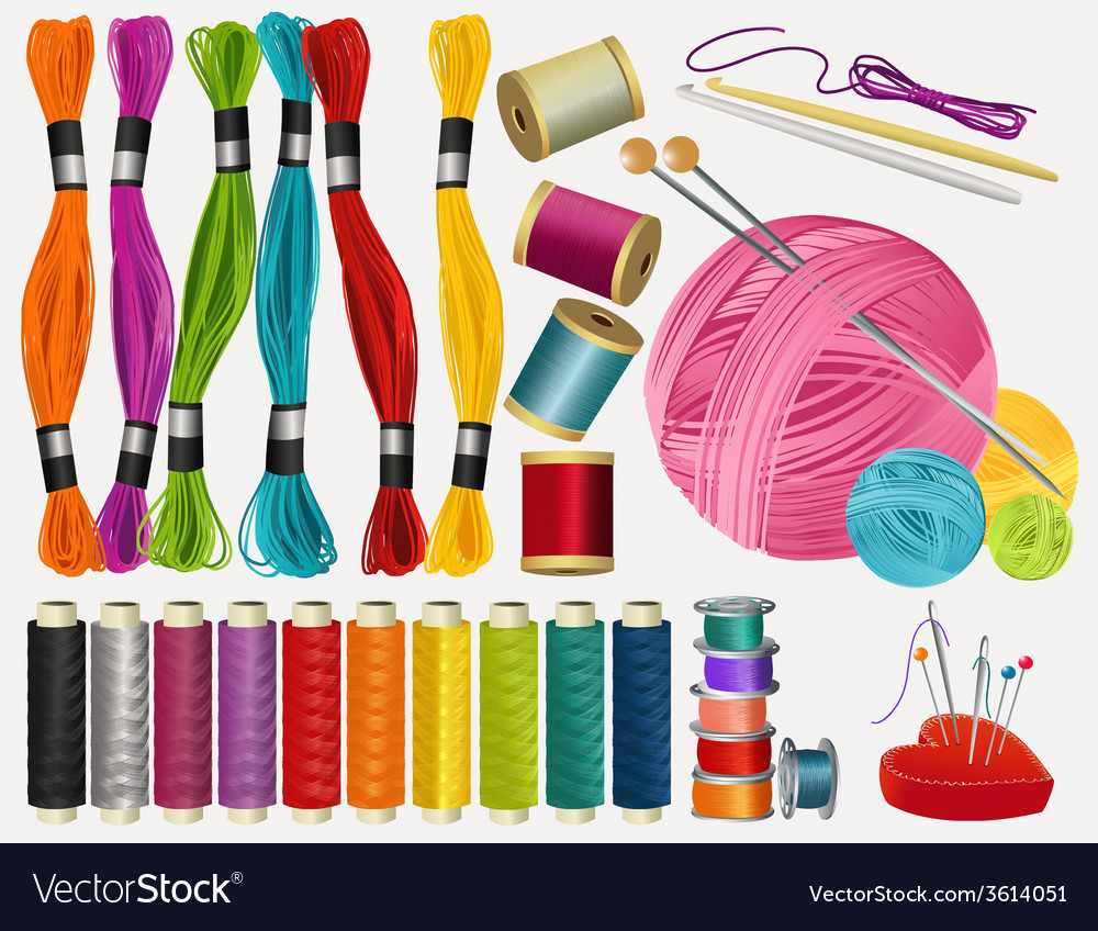 Sewing accessories vector | Price: 1 Credit (USD $1)