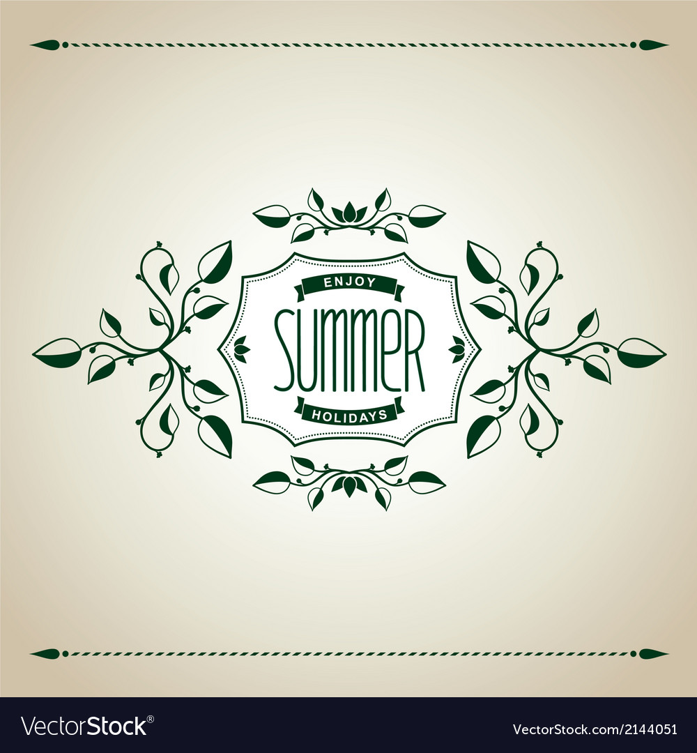 Summer vintage design vector | Price: 1 Credit (USD $1)