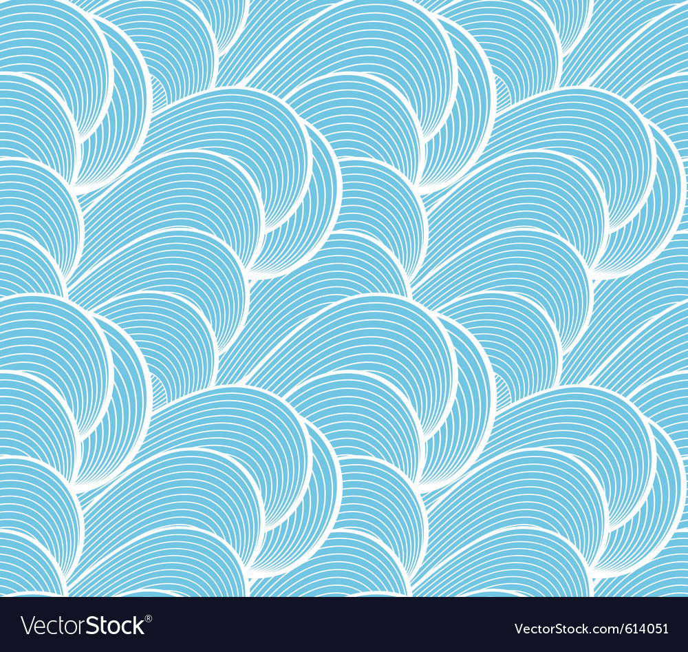 Wave seamless pattern vector | Price: 1 Credit (USD $1)