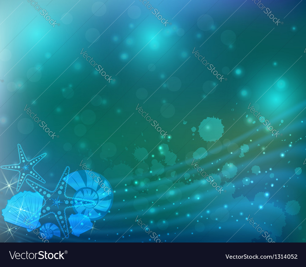 Abstract ocean blue background vector | Price: 1 Credit (USD $1)