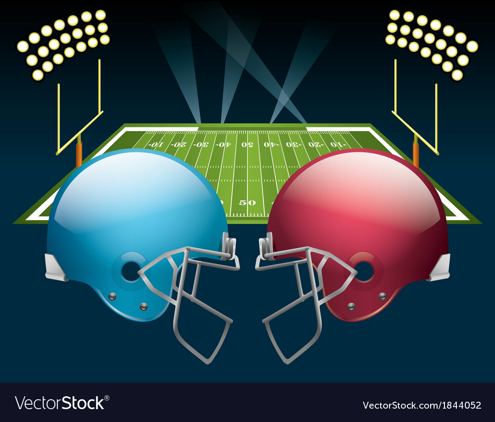 American football game vector | Price: 1 Credit (USD $1)