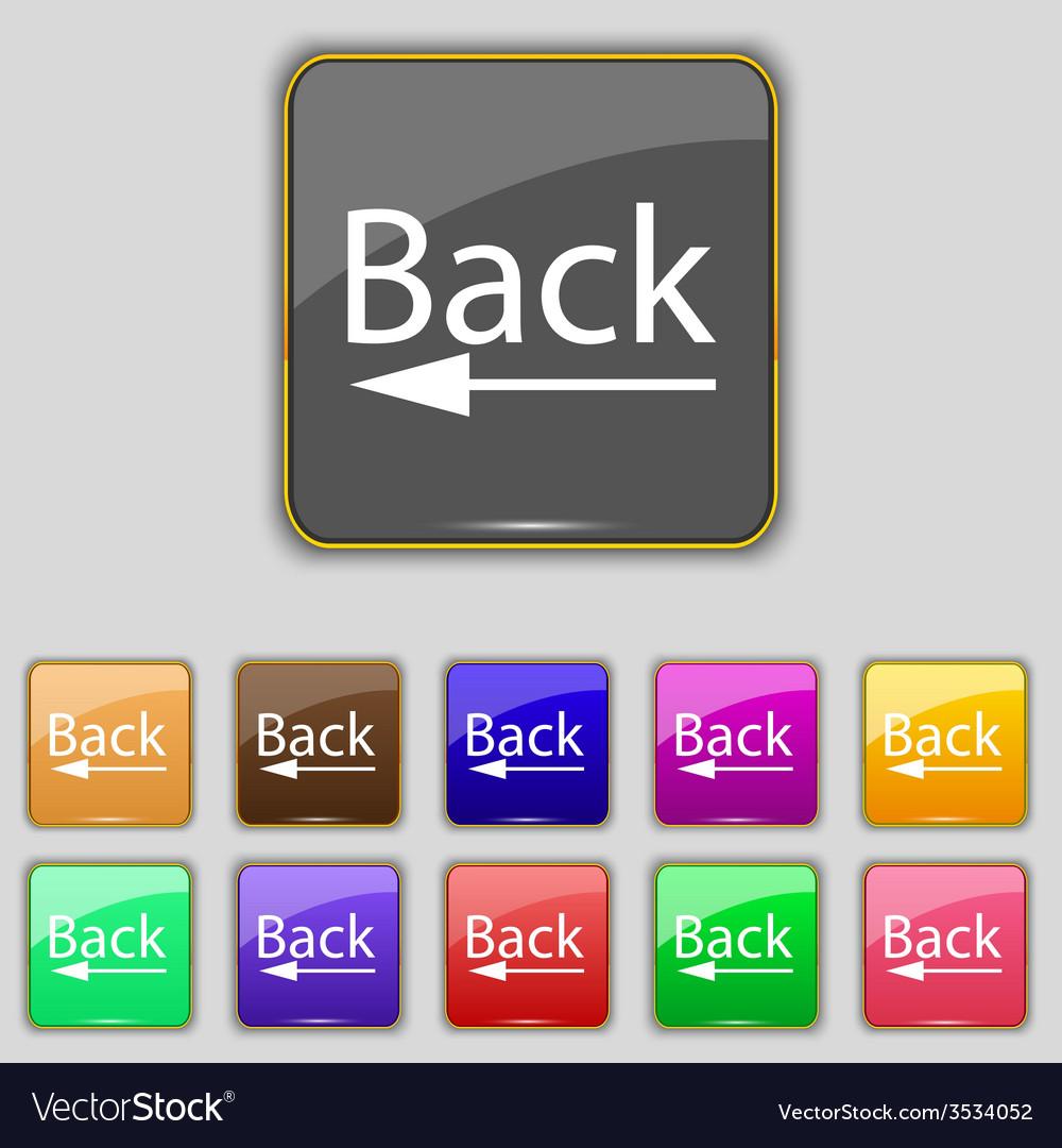 Arrow sign icon back button navigation symbol set vector   Price: 1 Credit (USD $1)