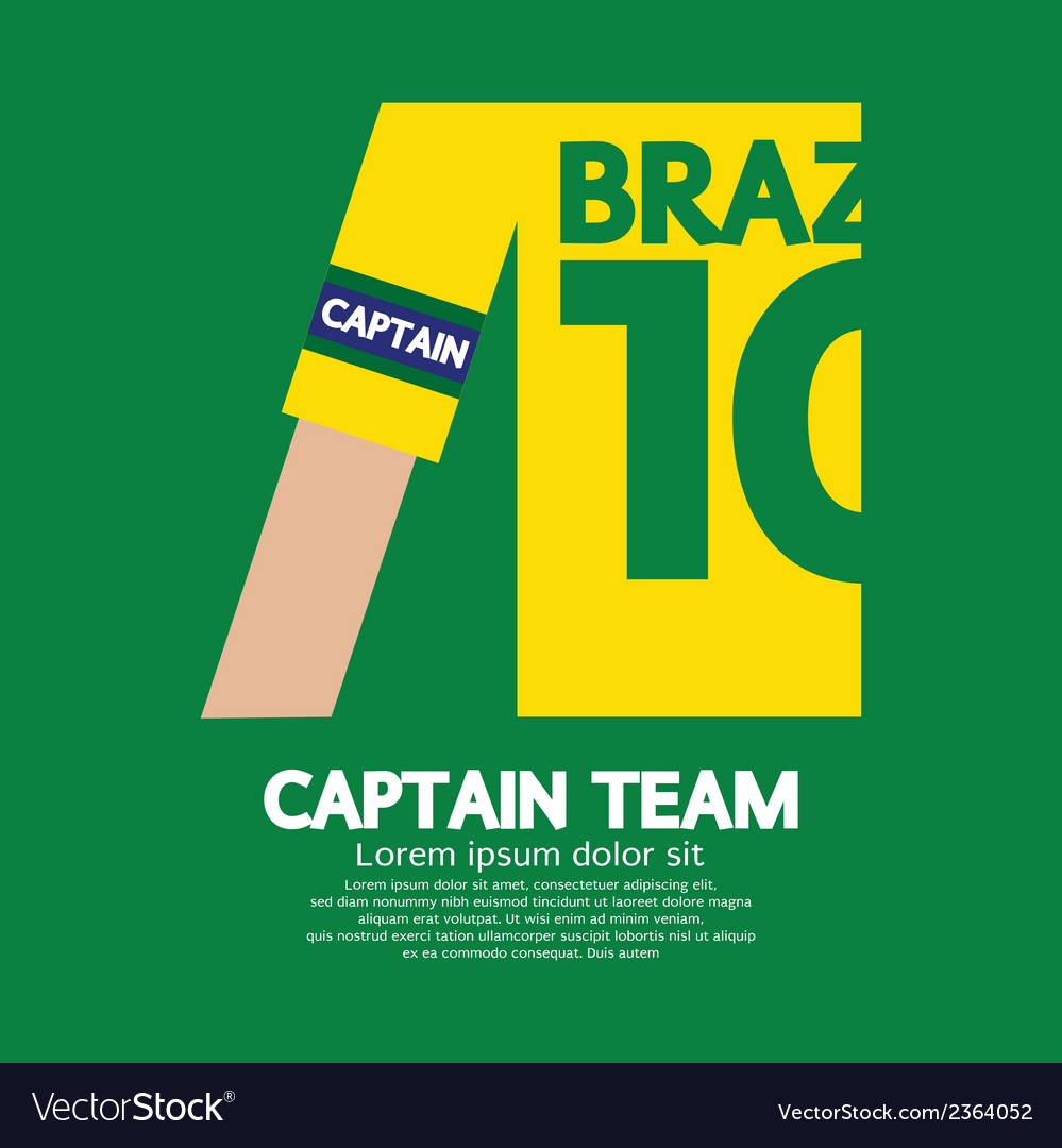 Brazil captain soccerfootball team vector | Price: 1 Credit (USD $1)