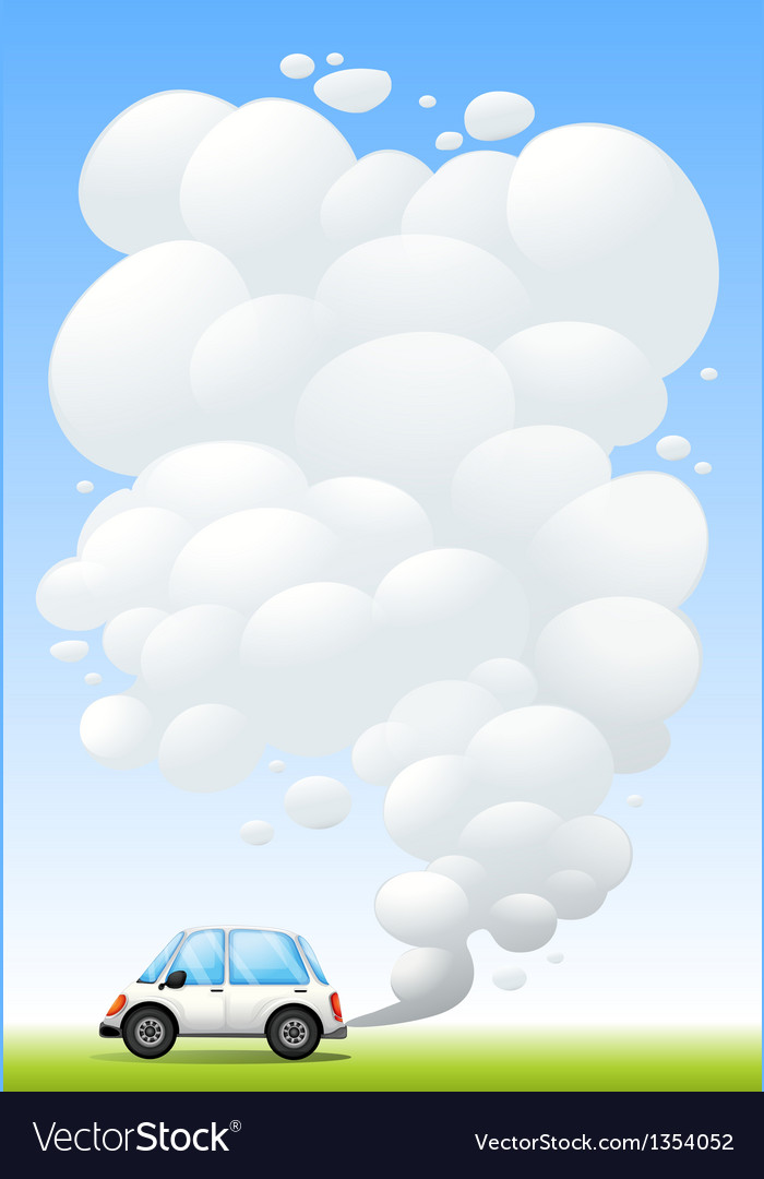 Car releasing smoke vector | Price: 1 Credit (USD $1)